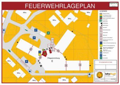 Feuerwehrplan einer Pflegeeinrichtung
